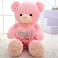 100/130/150cm 4 Color Holding A Heart Large PLush Bear For Valentine's Day Grilfrrend Gifts