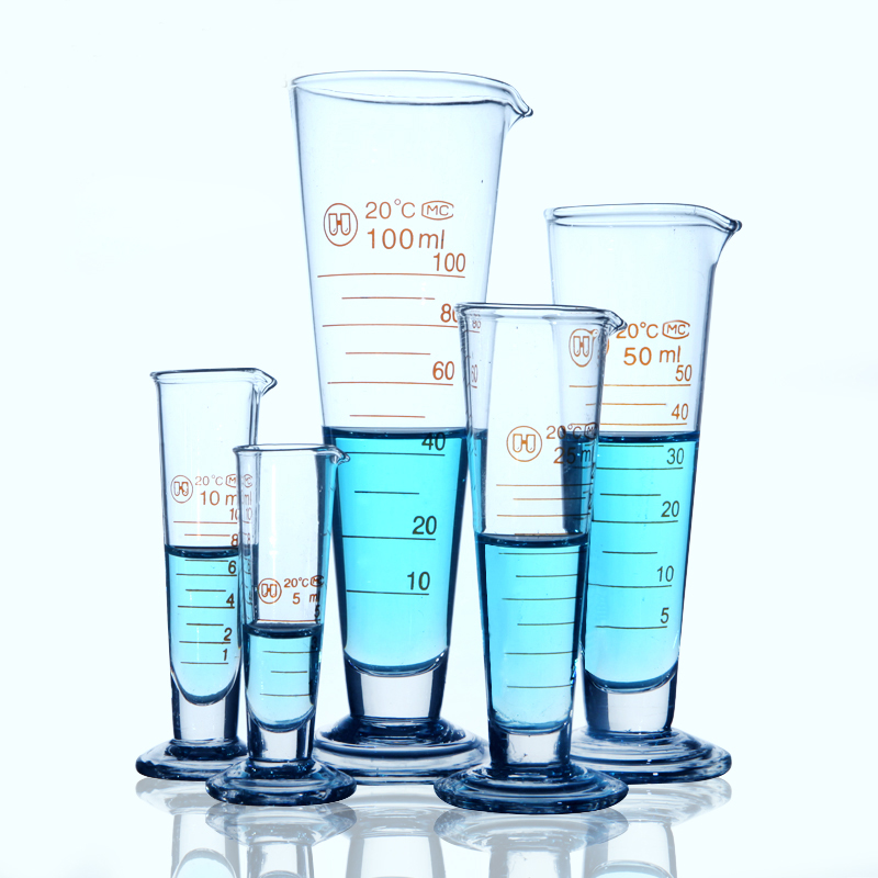 6pcs/set Chemistry Conical measuring glass Graduated conical cylinder Borosilicate Glass Laboratory supplies