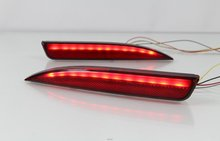 eOsuns LED Rear Bumper Light rear fog font b lamp b font Brake Light moving turn