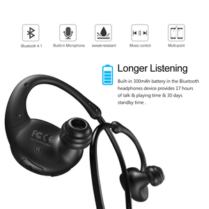 Image 3 - New Bee Headset Bluetooth Wireless Sport Earphone Headphones Snail Design HiFi Earbuds with Mic Pedometer App For Phone