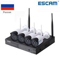 Escam wnk404 4ch Wi Fi IP Камера S Wi Fi NVR комплект HD 720 P ИК Открытый Водонепроницаемый IP66 день/Ночное видение ИК безопасности Камера