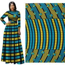 купить 2019 Spring new green and yellow full-color polyester printed cloth  fabric for dress  african fabric wax print  Batik  Plain дешево