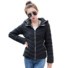 2016 New Autumn Winter Jacket Women Coat Fashion Female Short Paragraph Hooded Down Jacket Women Parkas Casual Thin Jackets C446
