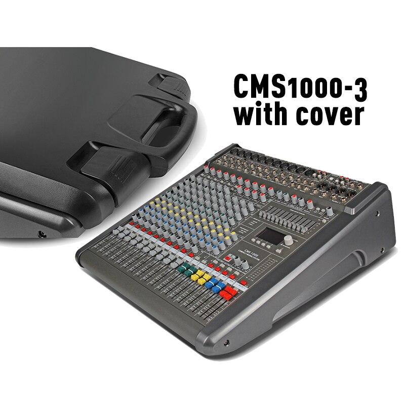 CMS mezclador de audio profesional dj consola mezcladora 1000-3 con cubierta de plástico 11 marca EQ Dual DSP efectos