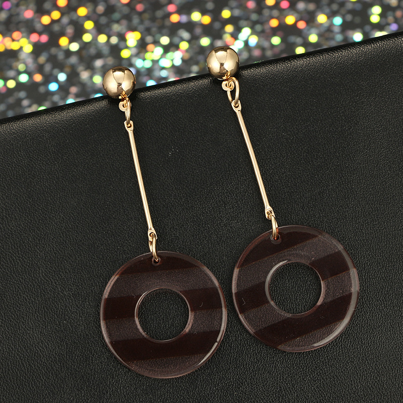 Punk Stripe Earrings For Women Color mixing Acrylic Earring A Piar Of Earrings Jewelry Girls Dance Friendship Birthday Gifts in Drop Earrings from Jewelry Accessories