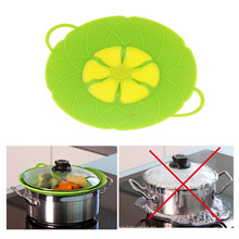 Red Green Silicone Kitchenware Parts Cooking Tools Kitchen Tool Boil Over Spill lid Stopper Oven Safe For Pot Pan Cover
