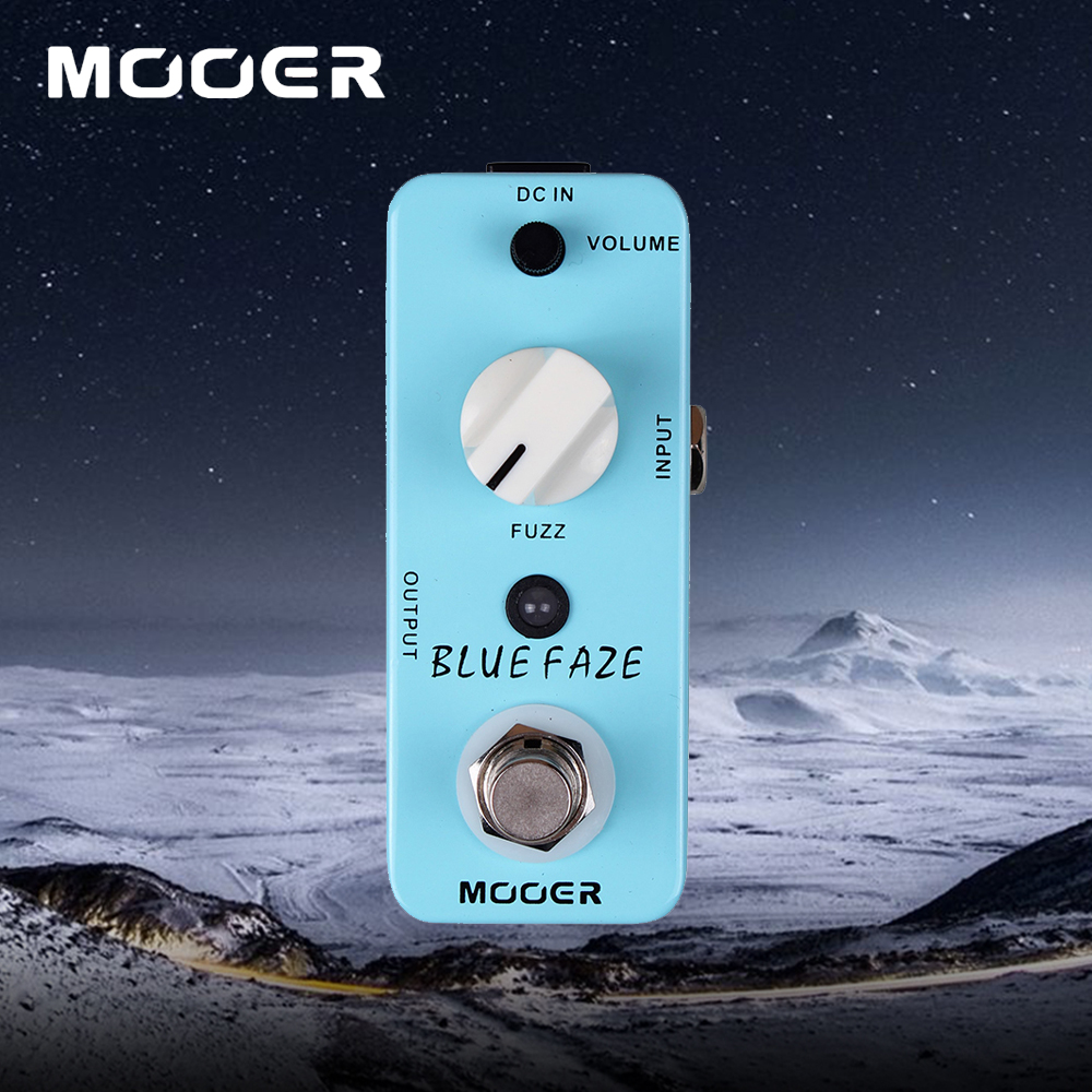 Mooer Blue Faze Mini Classic Smooth Vintage Fuzz Sound Effect Pedal True Bypass Guitarra Accessory mooer yellow comp classic optical compressing sound with smooth attack and decay further more guitr pedal effect pedal