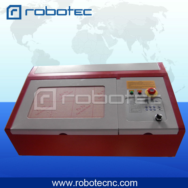 3020 40W Mini Laser Stamp Engraving Machine stamp laser machine 3020 with lift system up and down function 40w heigh configration