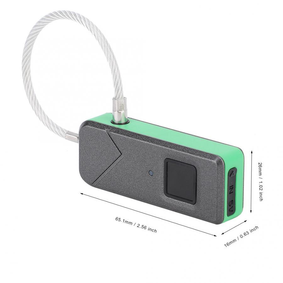 Verrouille le cadenas intelligent d'empreinte digitale serrure de sécurité sans clé serrure intelligente de porte pour la valise de bagage de porte - 6