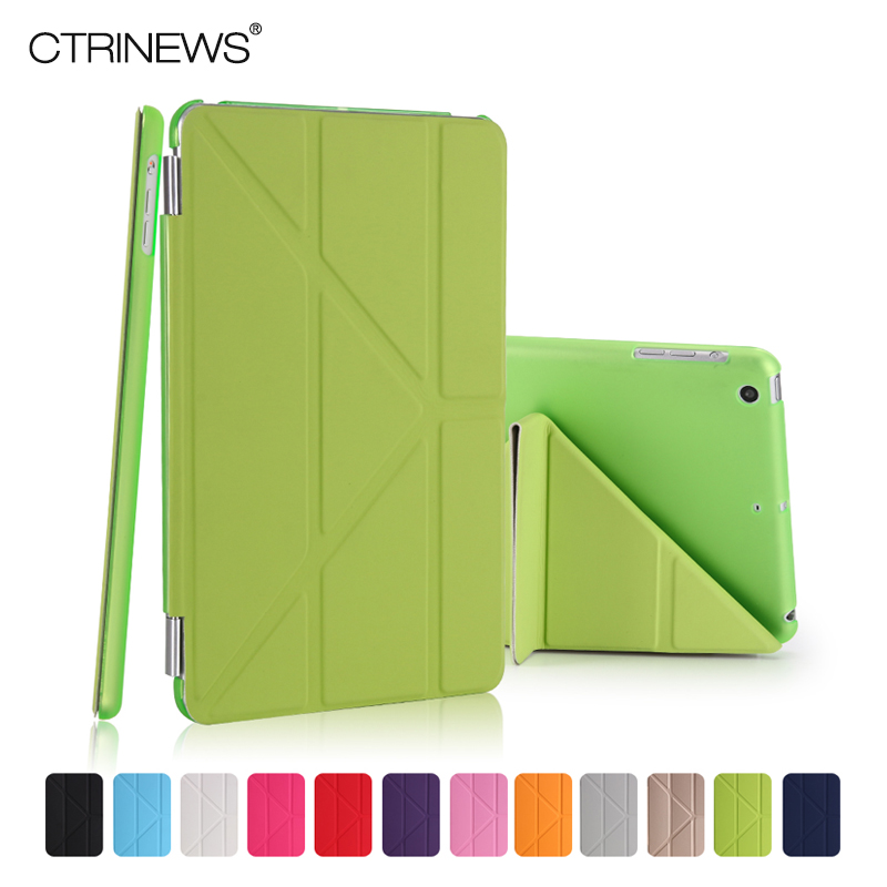 все цены на  CTRINEWS Fashion PU Leather Cover For Apple iPad Air 1 Case Magnetic Wake /Sleep Tablet Case for iPad Air Muti-fold Stand Cover  онлайн
