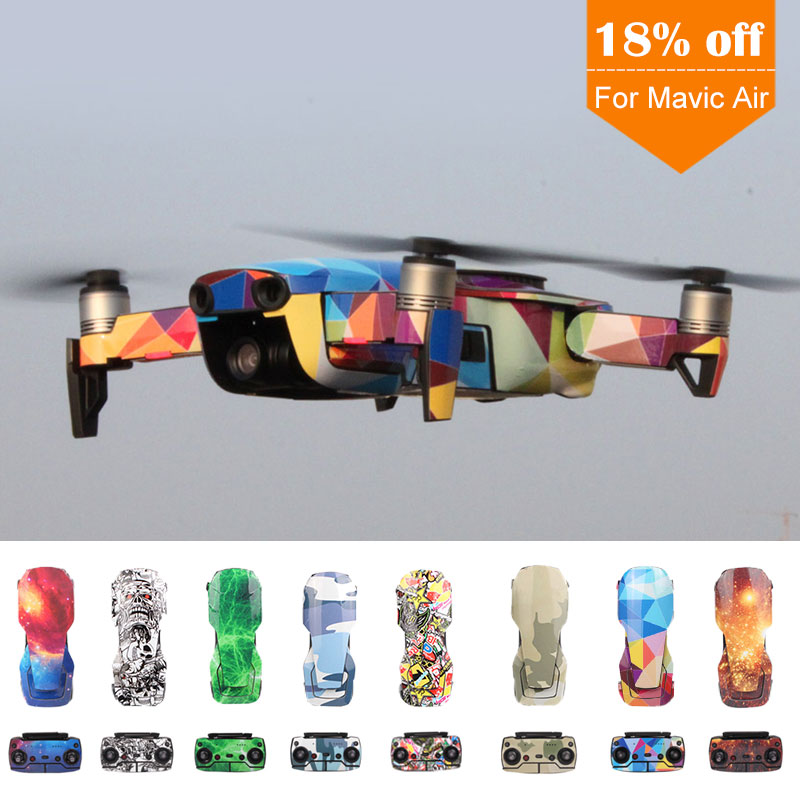 8 Colors Avaiable Cool Waterproof PVC Stickers Full Set Of Skin Decal For DJI MAVIC AIR Drone Accessories Mavic Air Skin Sticker
