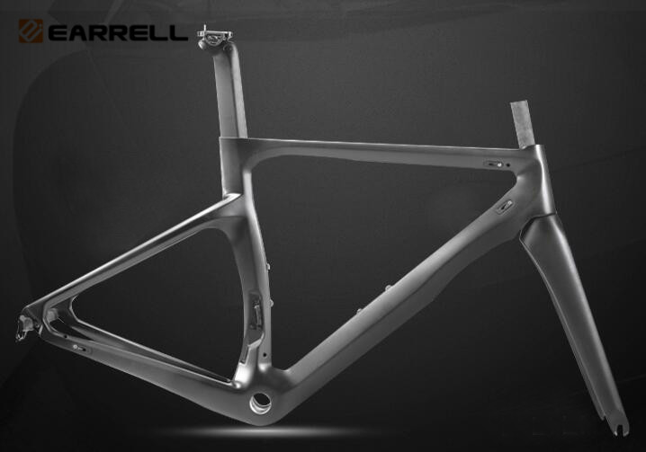 EARRELL Super light experience Carbon Road Frame Carbon Bike/bicycle Frame 3K fixed gear frameset brompton fat bike 53cm 55cm 58cm fixed gear bike frame matte black bike frame fixie bicycle frame aluminum alloy frame with carbon fork