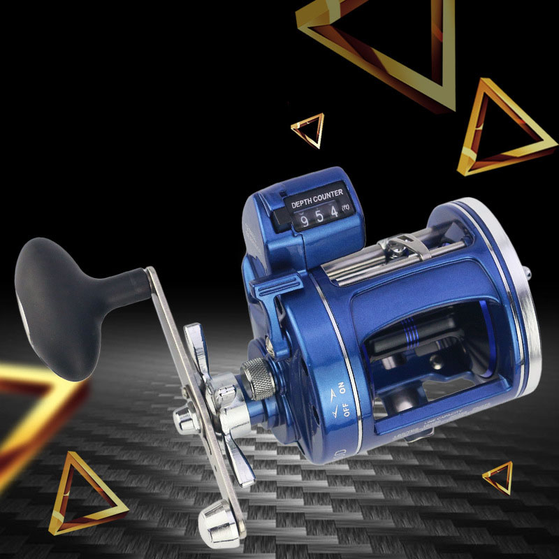 WALK FISH 2018 NEW 12BB offshore angling gapless Drum Wheel fishing reel with Electric Depth Counting Multiplier body