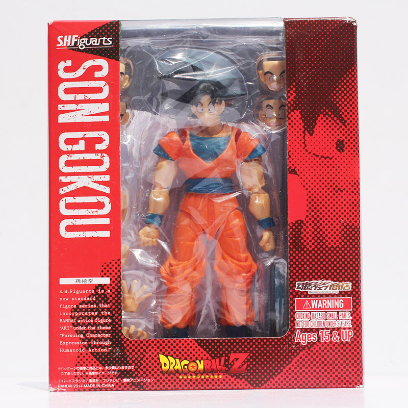 16cm SHF Figuarts Dragon Ball Z Son Goku SHFiguarts Son Gokou PVC Action Figure Collection Toy In Box