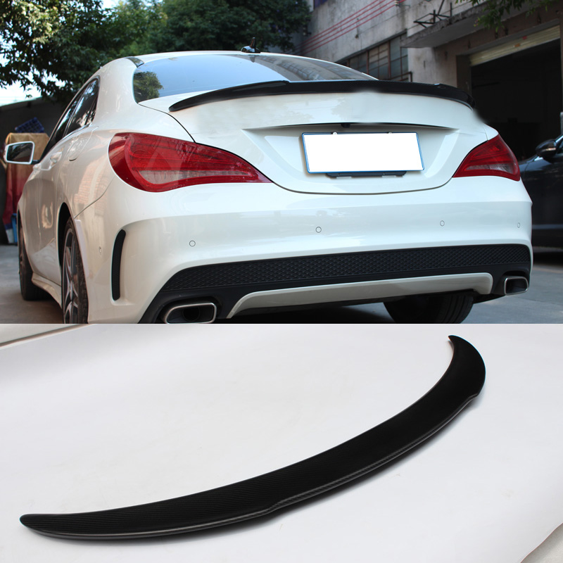 Matte Black Style Carbon fiber Trunk Spoiler Fit For Benz CLA-Class W117 CLA200 mercedes cla w117 amg style replacement cf rear trunk wing spoiler for benz 2013 cla 180 cla200 cla 250
