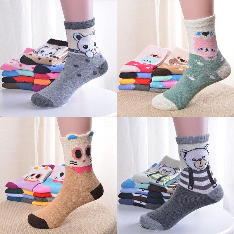 1PC Children Socks, Autumn And Winter Cartoon Tube Cute Baby Boys Girls Socks.