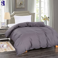 SunnyRain 1 Piece Solid Color Cotton Duvet Cover For Weighted Blankets Duvet Cover King Size Blankets Duvet Cover