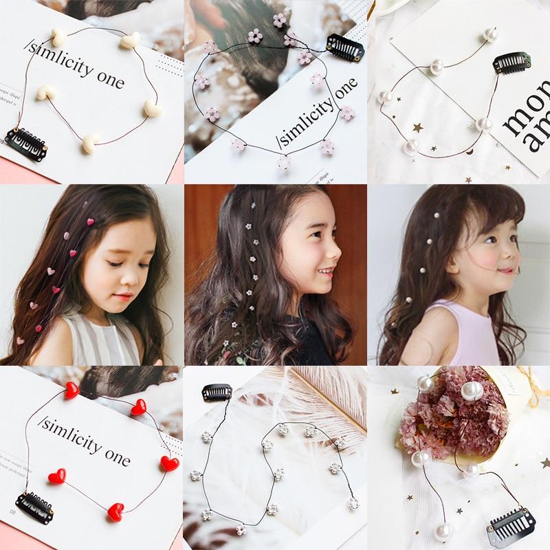 Fashion Streamline Hairpins Headdress Flower Pear Hair Braid Clip For Girls Women Jewelry Crystal Decorative Hair Braided