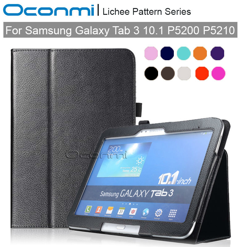 PU leather Smart case for Samsung Galaxy Tab 3 10.1 inch slim magnet cover for Samsung Tab3 10.1 SM-P5200 SM-P5210 case