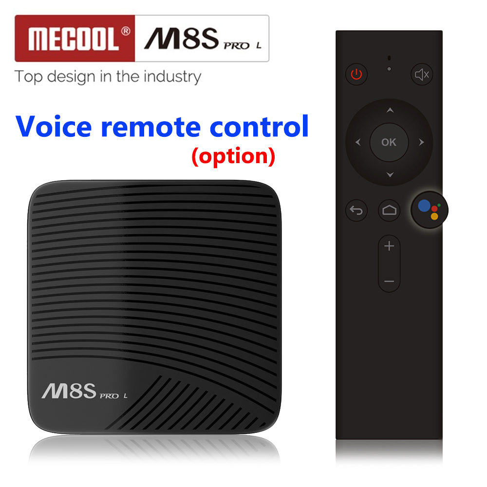 MECOOL M8S PRO L Android 7.1 Amlogic S912 TV BOÎTE 4 k HD WIFI Bluetooth Voix Télécommande Smart TV BOX Media Player PK X96