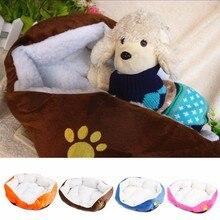 1PC Winter Dog Cat Fleece Cozy Warm Bed Flannel Soft Cotten House Nest Mat Pad Puppy Pet Travel Beds