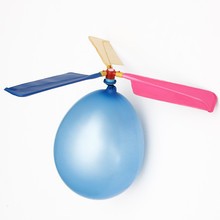 Portable Flying Balloon Helicopter Traditional Classic Toy For Children Kids Outdoor Sports Manipulative Ability Color Random