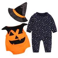 MUQGEWฮาโลวีนเสื้อผ้าเด็กดาวฟักทองRomperทารก