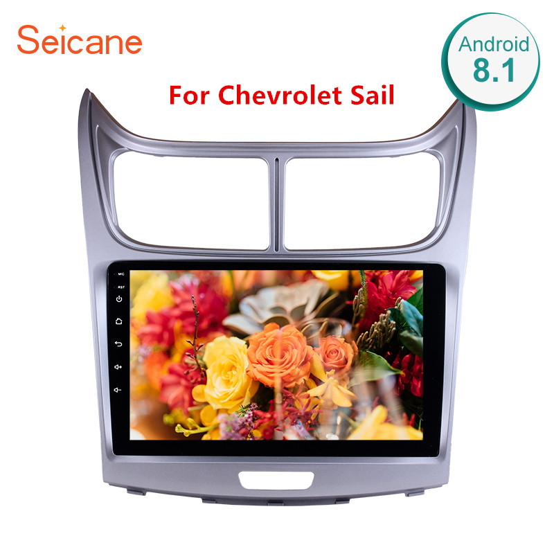Seicane GPS Head Unit 9 2din Android 8.1 Car Radio For Chevrolet Sail 2010 2013 HD 1080P Touchscreen Multimedia Player Stereo