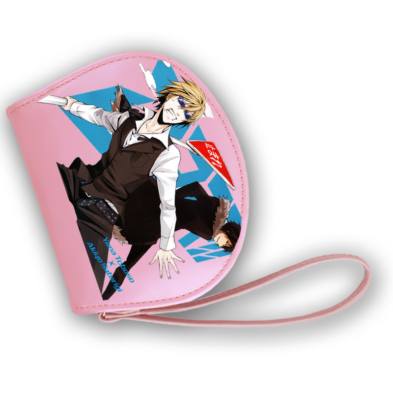 Lovely Female Clutch bag Woman Cartoon Wallet Japanese Style MekakuCity Actor/DuRaRaRa/Seraph of the end PU Leather Purse the plural actor