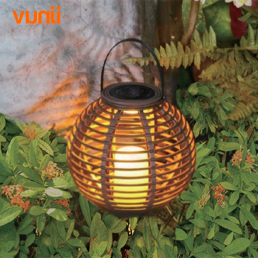 Image 2 - Waterproof LED Solar Powered Candle Lantern With Flickering Amber Luminaria Solar Lamp Outdoor Lighting Decorative Solar Light-in Solar Lamps from Lights & Lighting on AliExpress
