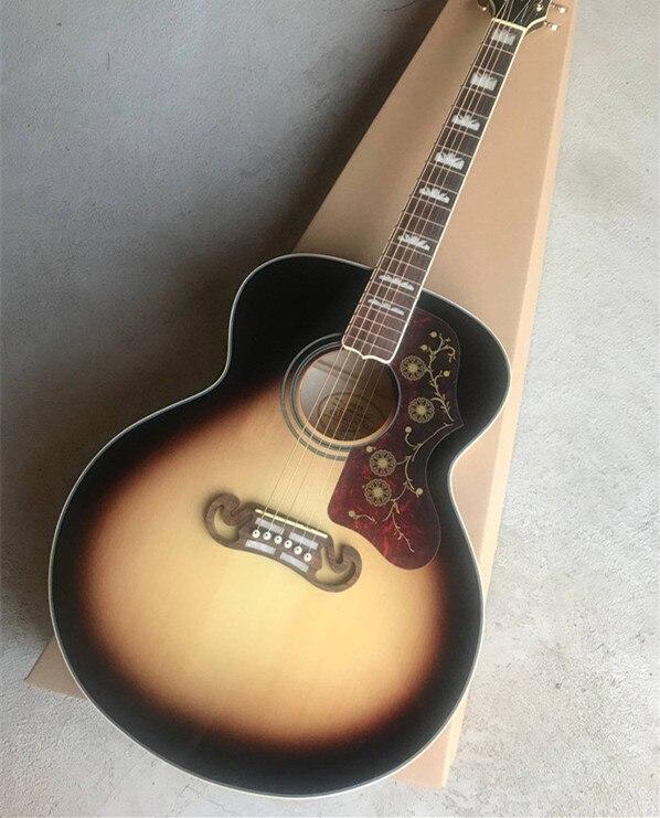 Firehawk 43 Custom Shop J200 VS Spurce Top 6 String Acoustic Guitar SJ200 Can be Installed Fishman 101/301 Pickup