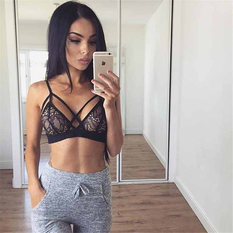 239ee7a897360 ... Sexy Floral Lingerie Lace Bra Triangle Bralette Push Up Bra for Women  Soutien Gorge Sujetador. RELATED PRODUCTS. Women Sexy Crossing Bandage Crop  Tops ...