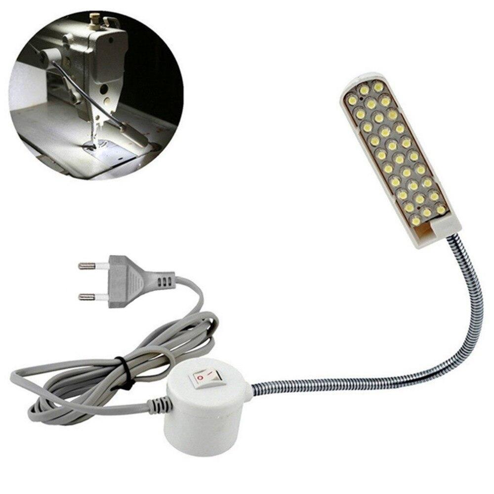 2W 30 LEDs Lamp Beads Sewing Machine Light Magnetic Mounting Base Gooseneck Lamp Sewing Machine Lighting EU Plug