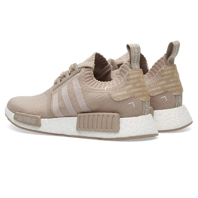 Adidas NMD R1 PK Cream Men and Women Running Shoes ,Khaki ,Shock Absorption Breathable Anti slip Wear Resistant S81848