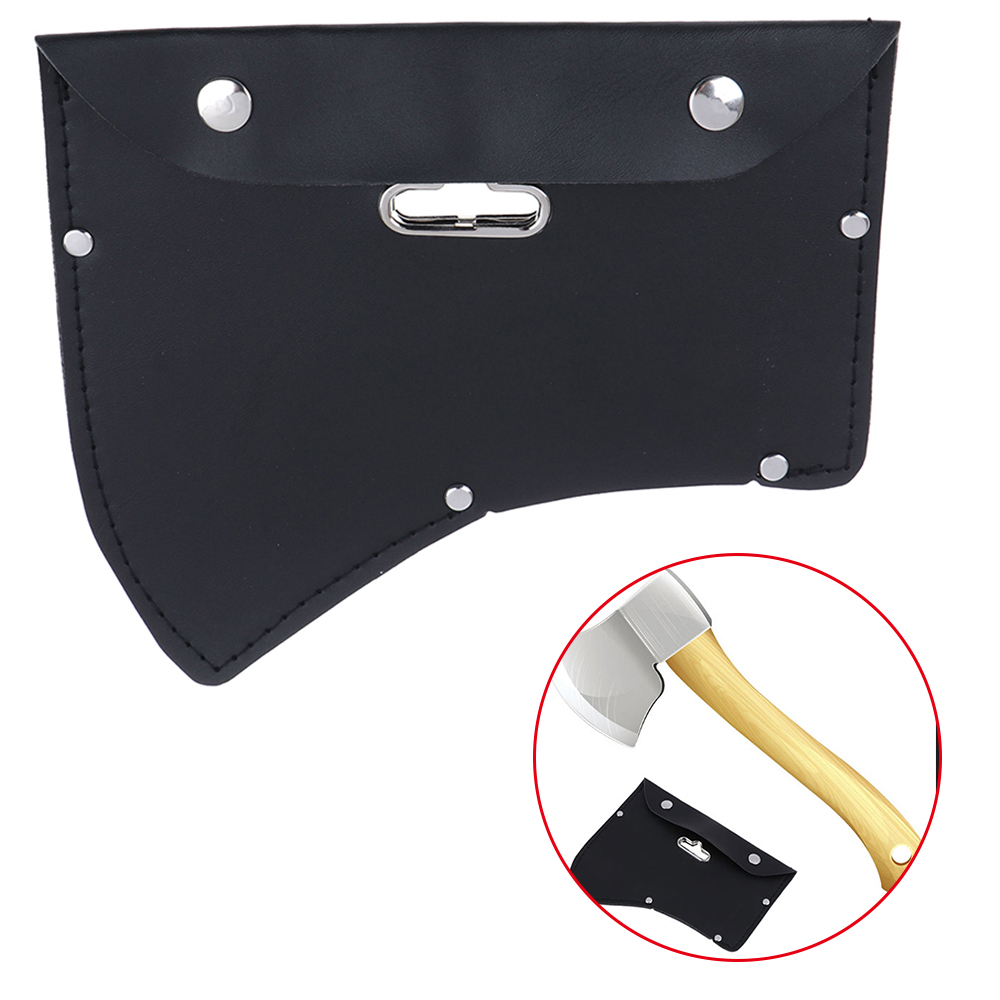1PCs Durable Leather Ax Axe Blade Cover Mask Sheath With Hook For Camping Outdoor Tools Parts