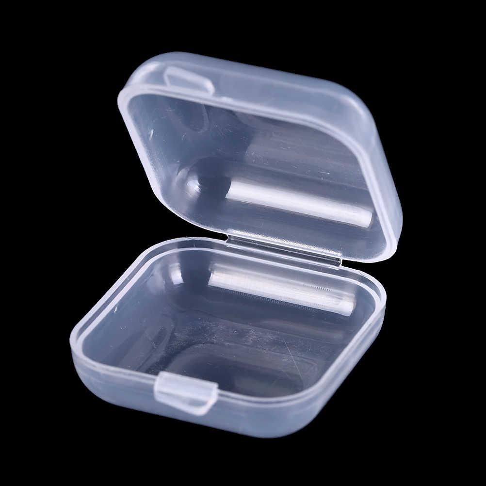 10/20/50 sztuk Mini jasne plastikowe małe pudełko biżuteria zatyczki do uszu schowek przypadku pojemnik koralik makijaż wyczyść organizator prezent