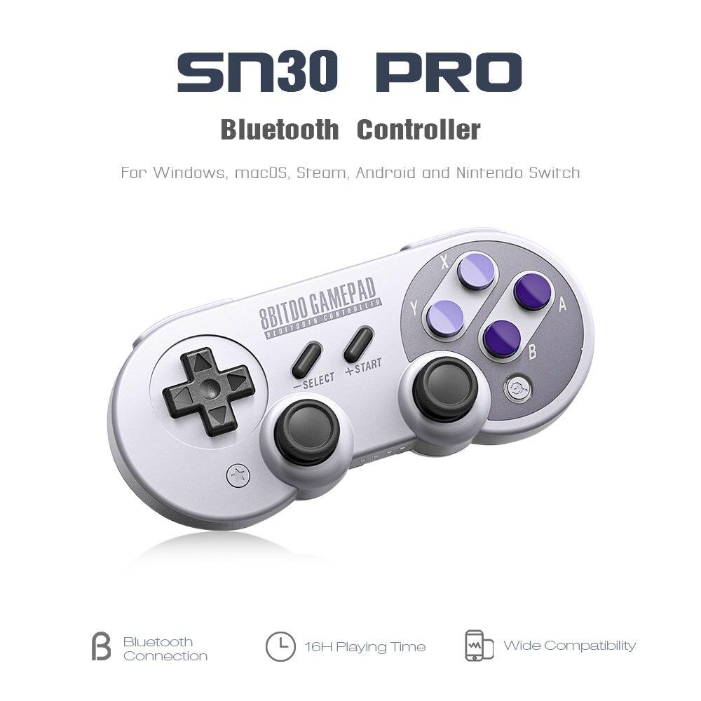 8 8bitdo SN30 פרו Gamepad בקר ג 'ויסטיק עבור Nintendo קיטור עבור Windows Mac OS אנדרואיד רעם רטט תנועה VS SF30 פרו