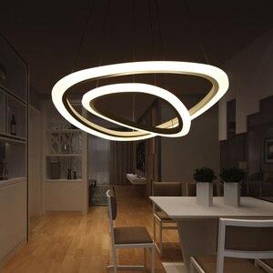 Image 5 - מודרני led תליון אורות אקריליק מקורה תאורת led סלון אוכל חדר luminaire suspendu אור גופי