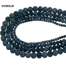 Wholesale Dull Polish Matte Natural Stone Snowflake Obsidian Round Beads For Jewelry Making DIY Bracelet Necklace 4/6/8/10 MM