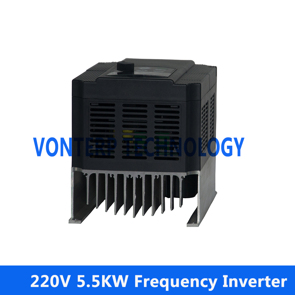 5.5KW 220v single phase input and 220v 3 phase output Frequency ...