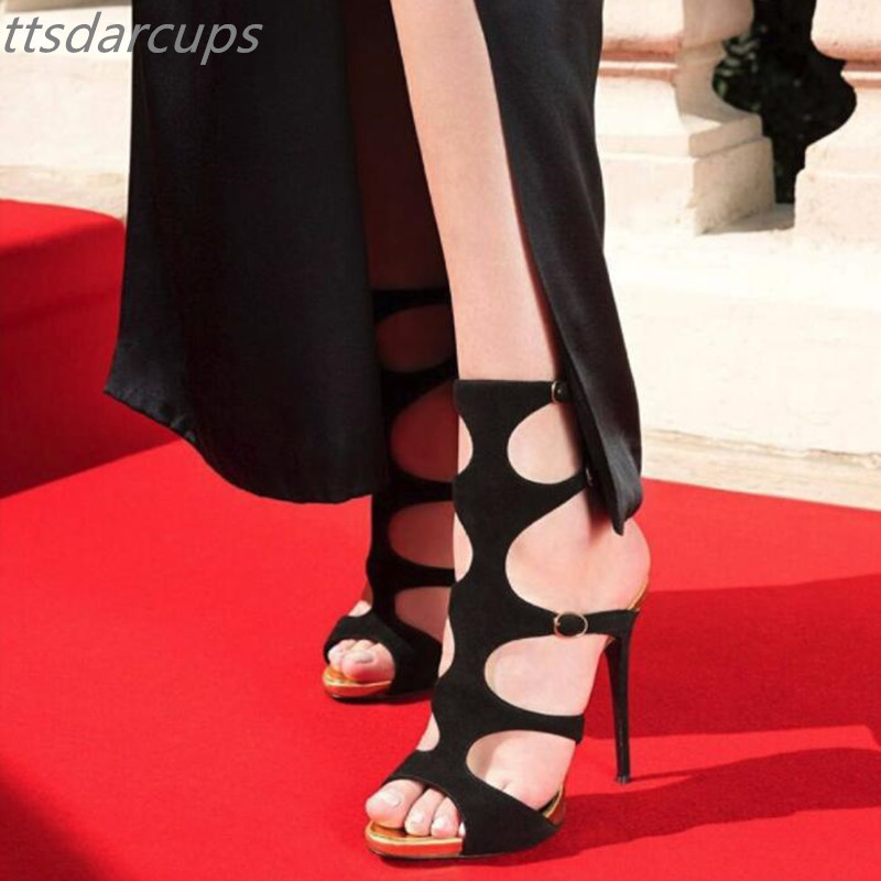 Summer womens shoes Italy popular show high heel 13CM water table 1.5CM ankle strap sandals Fashion sexy banquet high heels