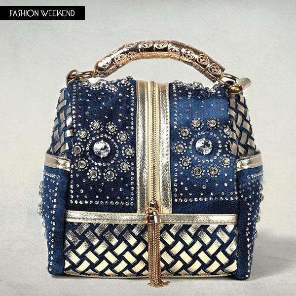 2016 Famous Canvas Denim Bag Women Jeans Blue Rhinestone Denim Handbag  Ladies Designer Brand Luxury Small Retro Quality Bag Tote-in Top-Handle Bags  from ... 76cbcb76f2eac