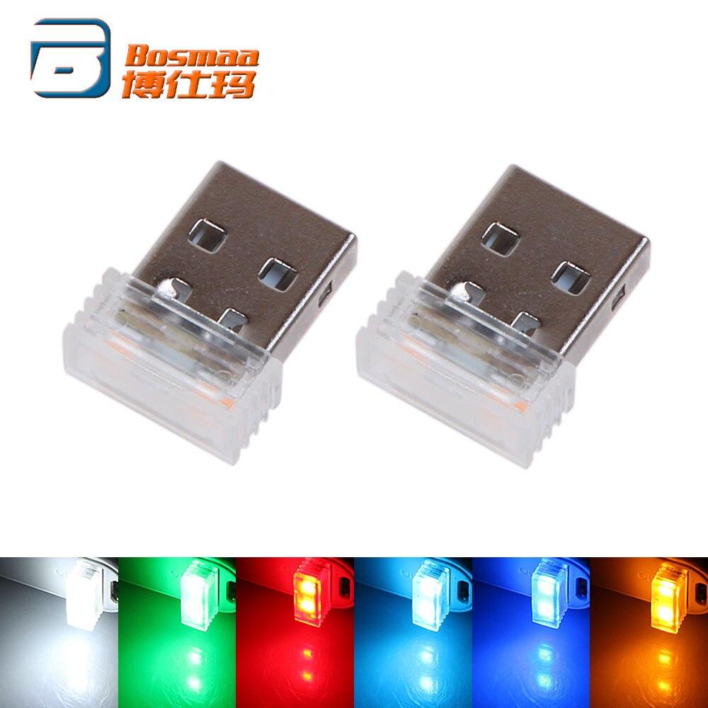BOSMAA 100pcs Mini Portable USB LED Car Atmosphere Light Emergency Lighting Power Bank