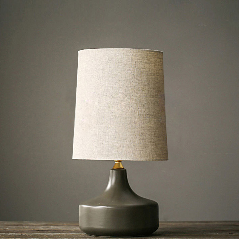 Nordic simple grey modern table lamps for living room Led Bed lamp bedside light table light Tafellamp lamps bedroom