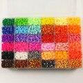 36 Color 5 mm granos del Hama Perler perlas box set EVA fusibles para los niños educación de bricolaje rompecabezas puzzle regalos juguetes 12000 unids