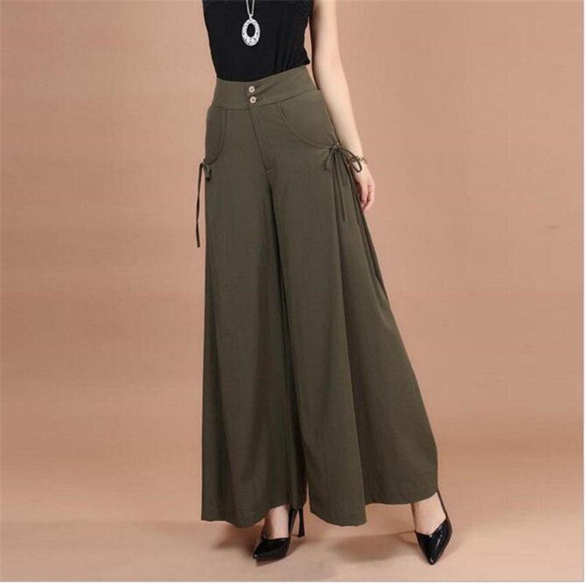 Mlcriyg Новая летняя Корейская свободная свободные штаны размер девять юбки модные обтягивающие штаны