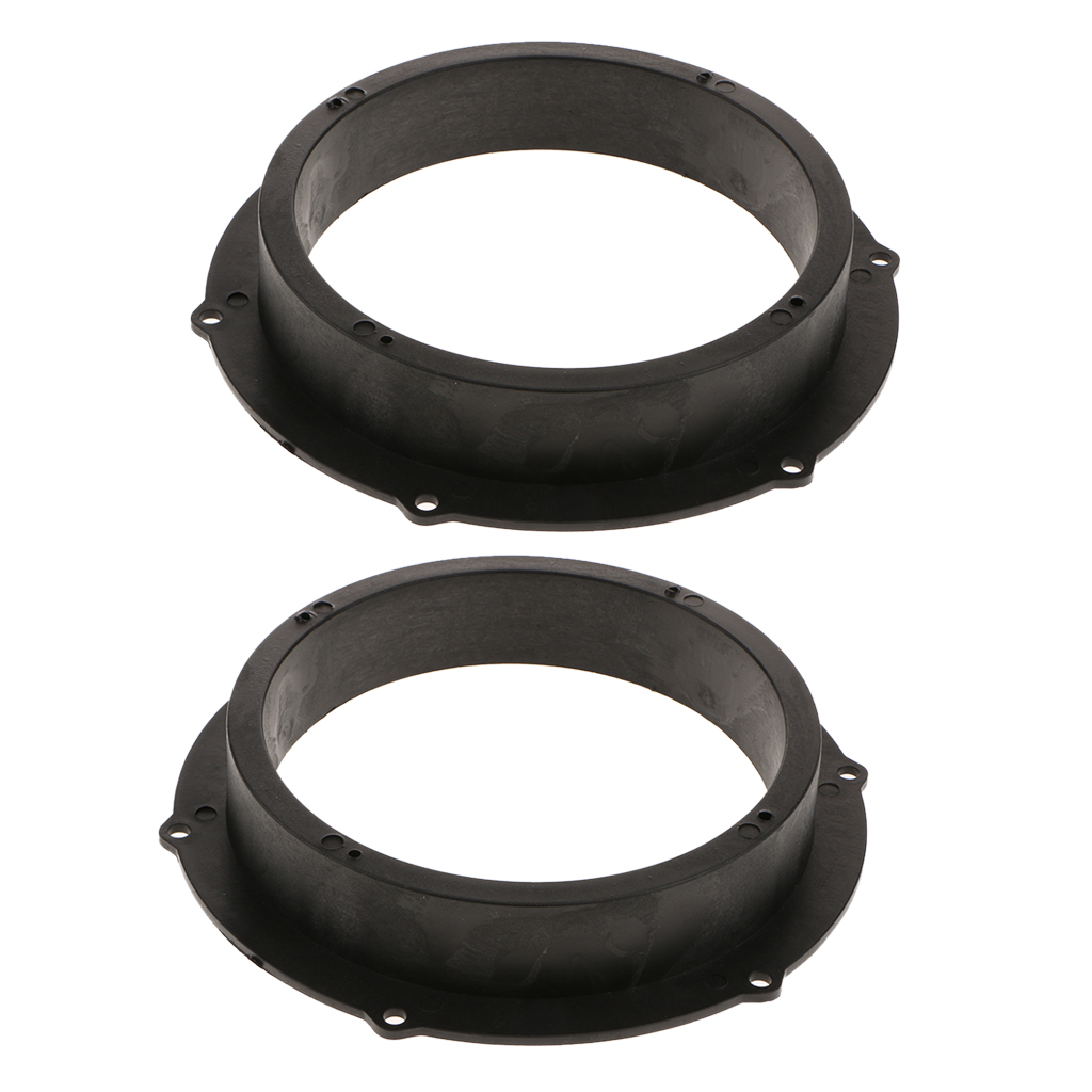 2 Pcs 6 5 inch Car Audio Stereo Speaker Spacers Adapter Black Plastic Mount Bracket Ring for VW in Interior Mouldings from Automobiles Motorcycles
