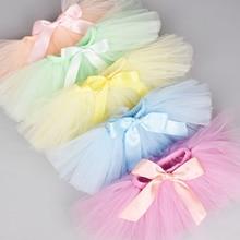 Комплект из юбки-пачки и повязки на голову для новорожденных девочек, реквизит для фотосессии для новорожденных, комплект с пышной фатиновой юбкой для малышей 0-12 месяцев, 18 цветов на выбор