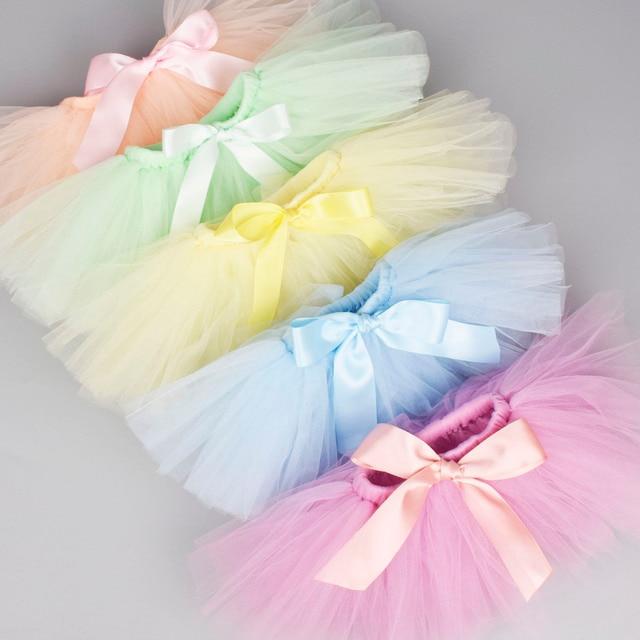Sơ sinh Bé Gái Tutu Váy & Headband Set Sơ Sinh Đạo Cụ Chụp Ảnh Trẻ Sơ Sinh Fluffy Bé Tulle Váy Bộ 0-12 M 18 lựa chọn màu sắc