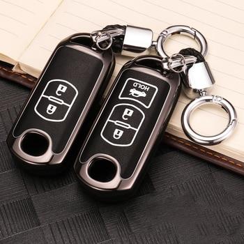 Alliage de Zinc + porte-clés Lumineux À Distance de Voiture Clé Housse Pour Mazda 6 Mazda 3 Axela Atenza CX-7 CX-9 CX-5 CX5 2015 2016 2017 2018